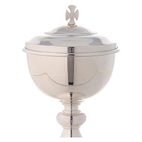 Travelling ciborium silver-plated brass with gold-plated inside Molina s3