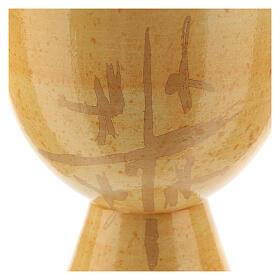 Cálice pequeno cerâmica Linha Caná cor de mostarda 12 cm s2