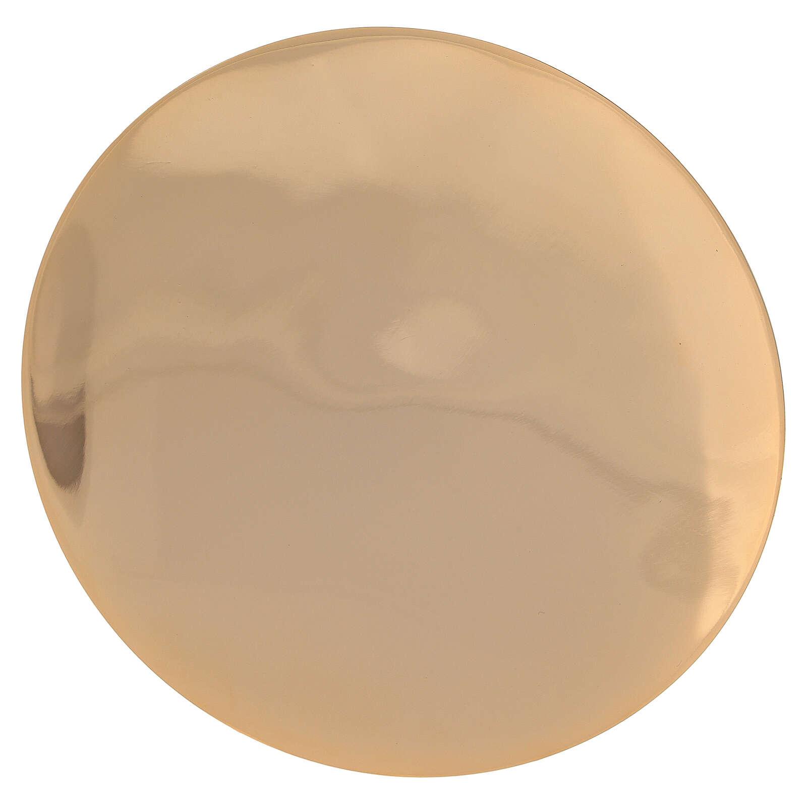 Cáliz patena latón dorado rayas en relieve 18,5 cm 4