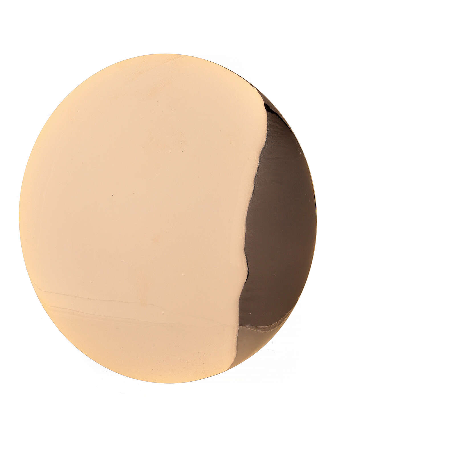 Patena ottone dorato liscia diametro 12,5 cm 4