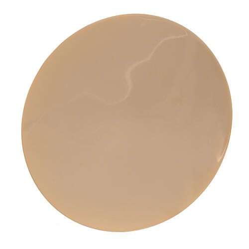 Patena ottone dorato liscia diametro 12,5 cm 1