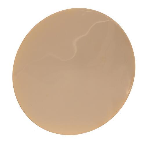 Patena latão dourado lisa diâmetro 12,5 cm 1