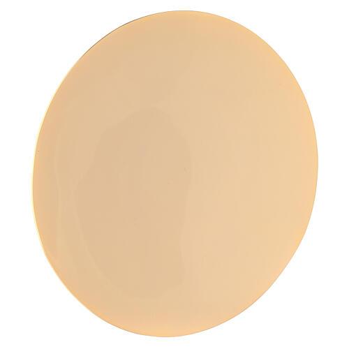 Paten in gold-plated brass diameter 16 cm 1