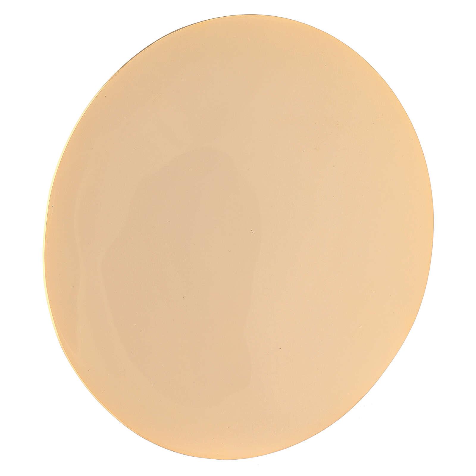 Patena simple latón verdadero dorado diámetro 16 cm 4