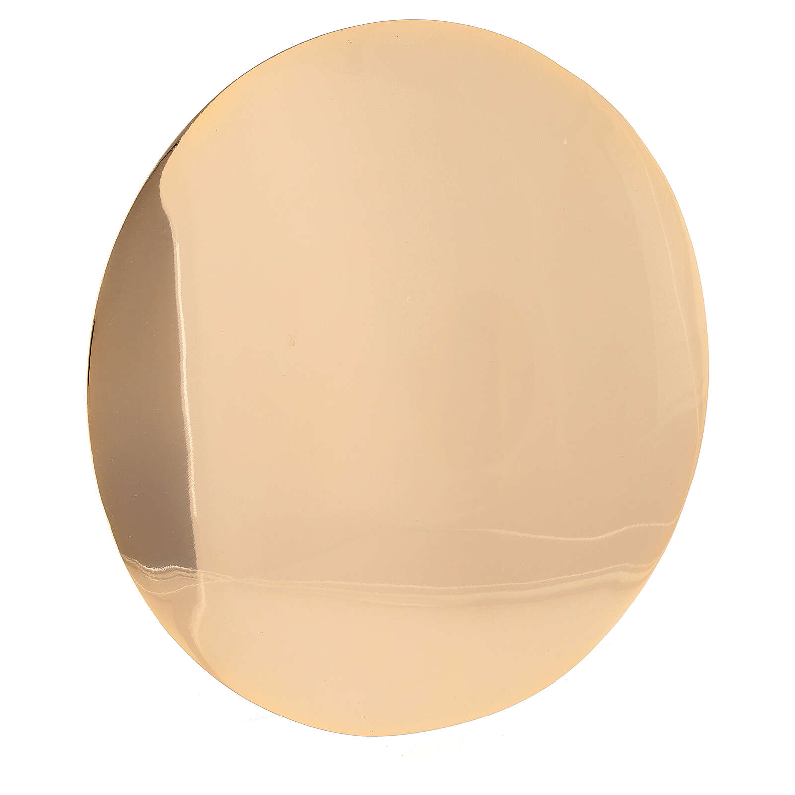 Patena semplice ottone vera doratura diametro 16 cm 4
