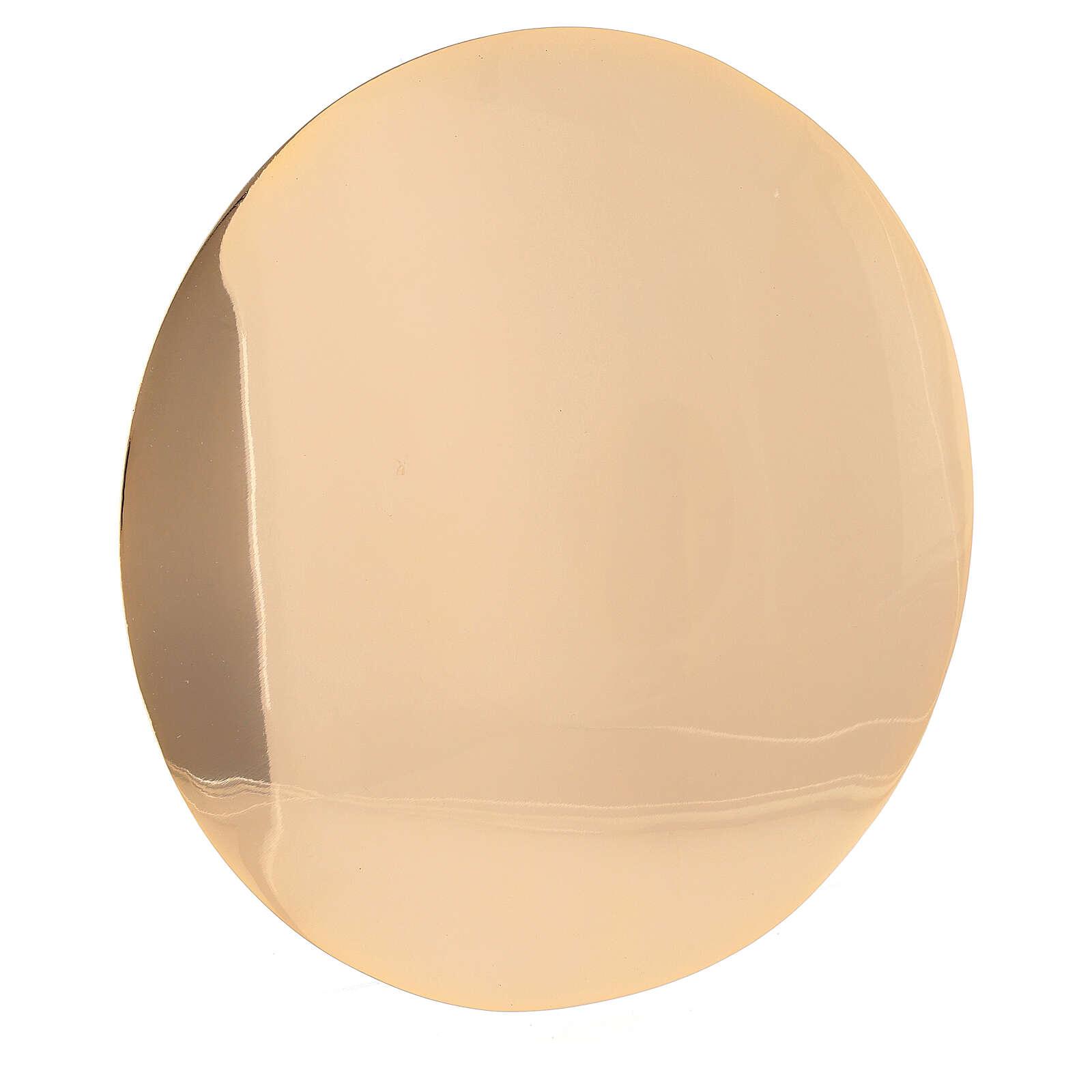 Patena simples latão douração verdadeira diâmetro 16 cm 4