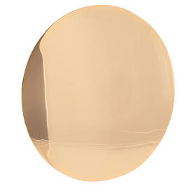 Simple gold plated brass paten d. 6 1/4 in s2