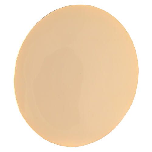 Simple gold plated brass paten d. 6 1/4 in 1