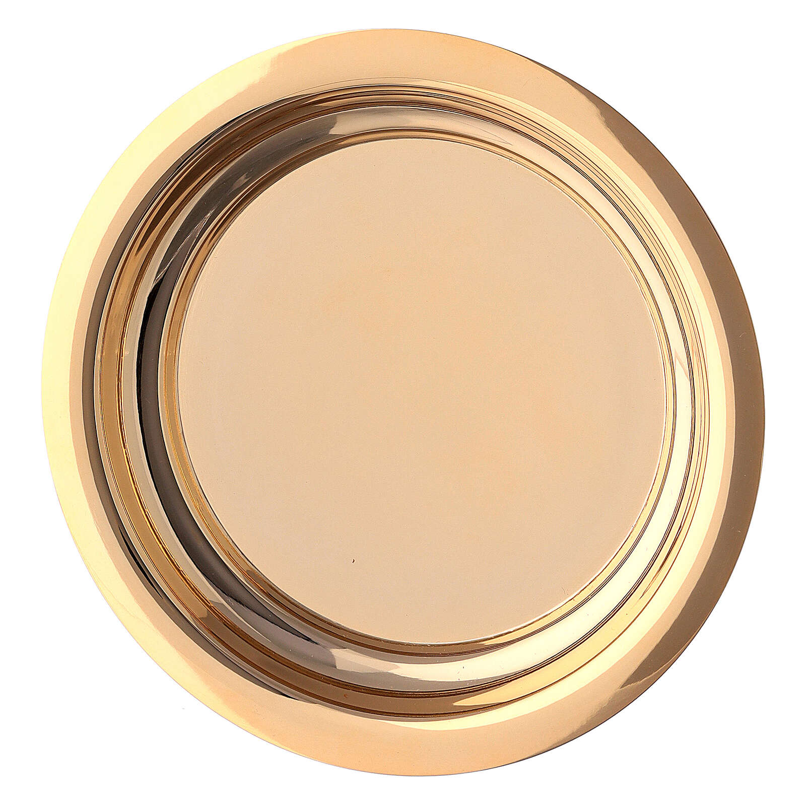 Calice pisside e patena croce apposta ottone dorato 4