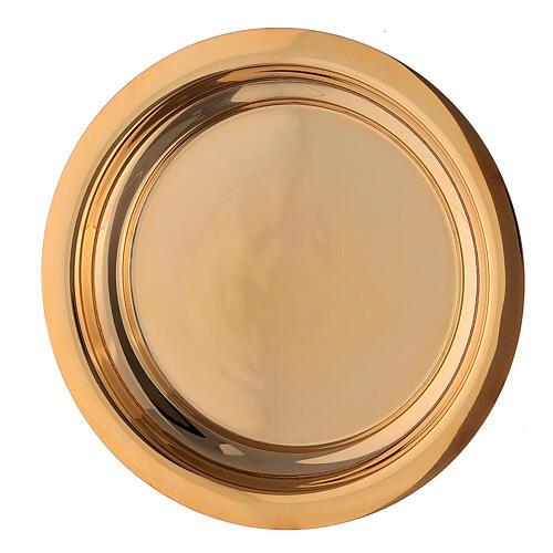 Calice pisside e patena croce apposta ottone dorato 7