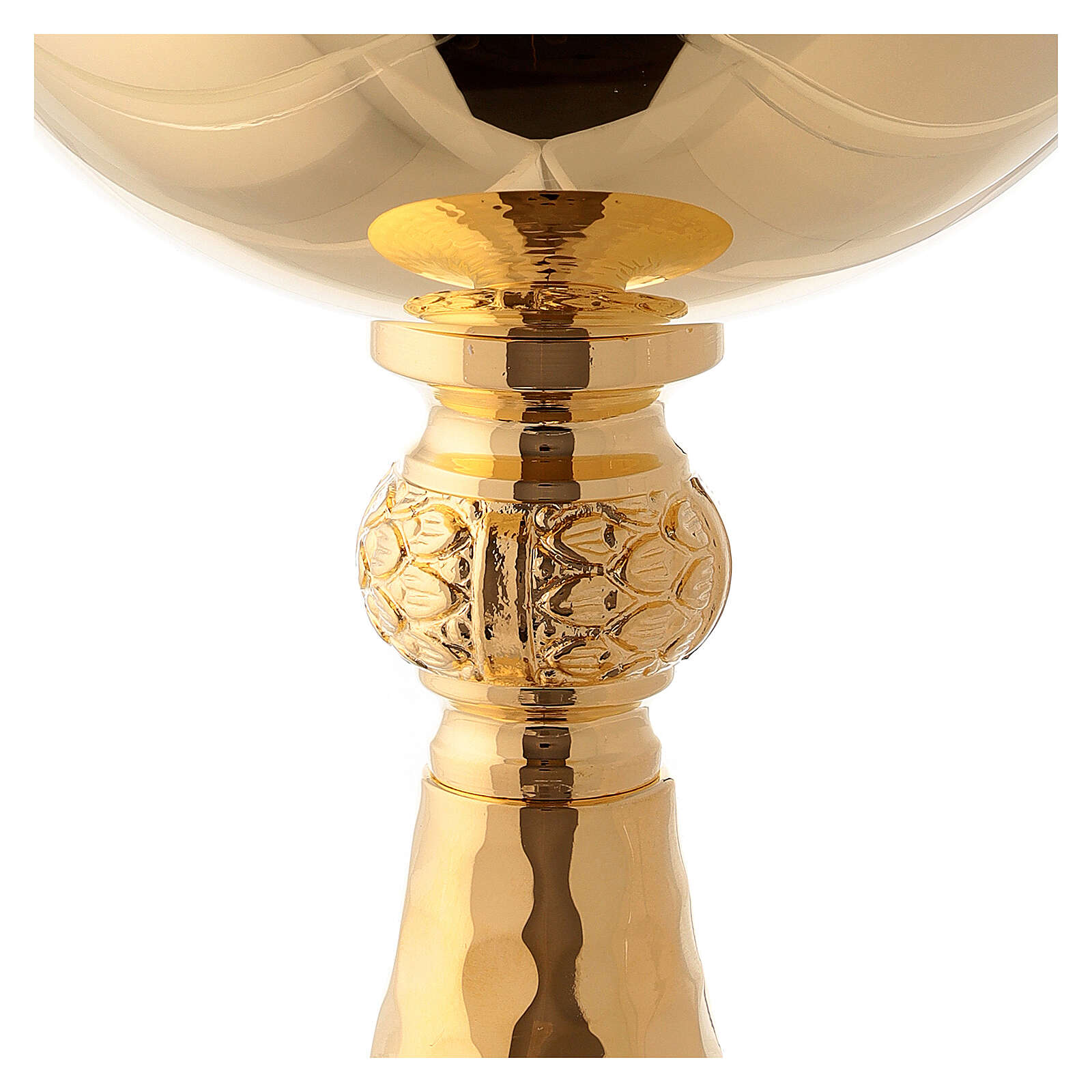Gold plated hammered chalice and ciborium 4