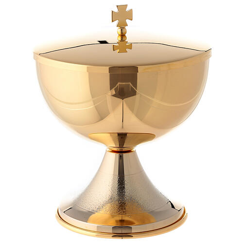 Knurled ciborium in 24-karat gold plated brass 1