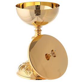 Rococo chalice and ciborium in 24-karat gold plated brass s6