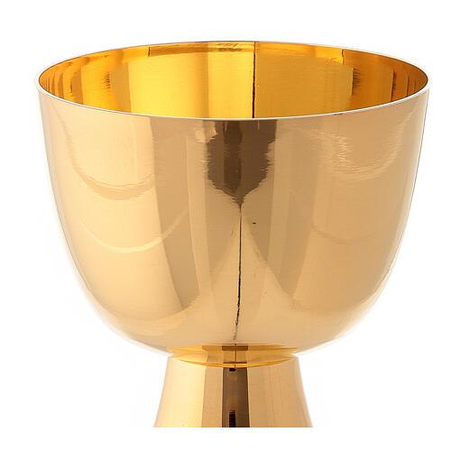 Calicino da viaggio in ottone dorato lucido altezza 7 cm 2