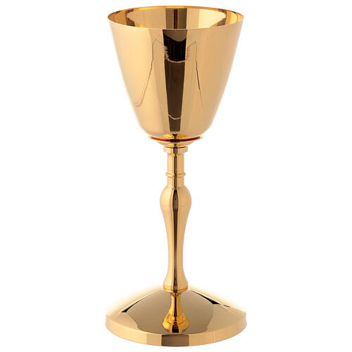 Chalice and ciborium in polished gold plated brass 3
