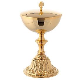 Cáliz y copón dorados en fusión decorado s3