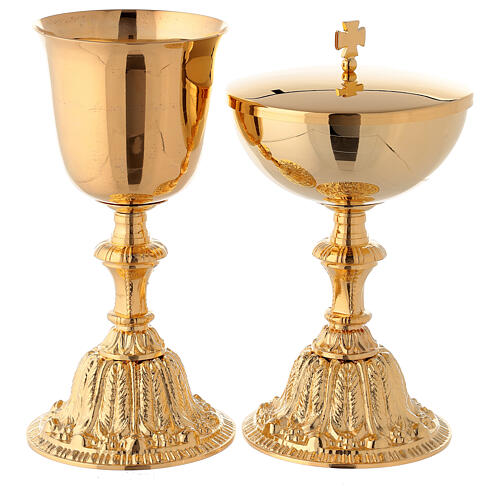 Gold plated casted chalice and ciborium 1