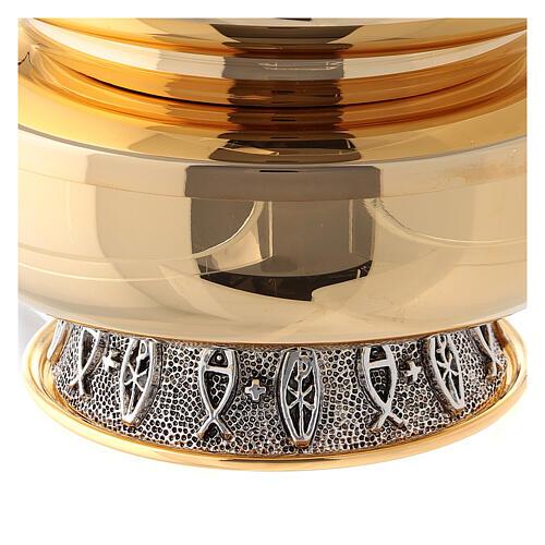 Pisside doppia ottone lucido diametro 14 cm 4