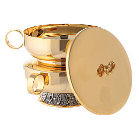 Stacking ciboria set in polished brass diameter 5 1/2 in s6