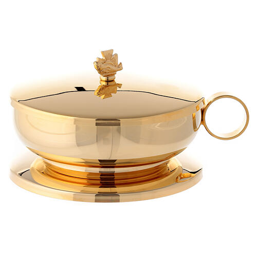 Stacking ciboria set in polished brass diameter 5 1/2 in 3