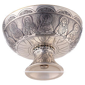 Last Supper and Evangelists Molina paten in silver plated brass s4
