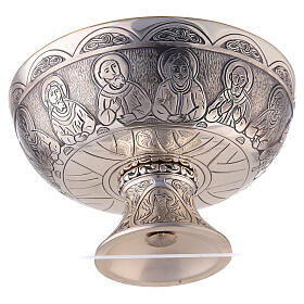 Last Supper and Evangelists Molina paten in silver plated brass s5