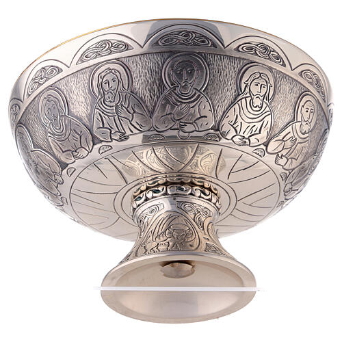 Last Supper and Evangelists Molina paten in silver plated brass 4