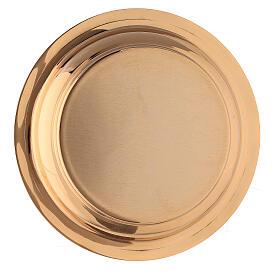 Cáliz y Patena latón dorado pámpanos vid 18 cm s7