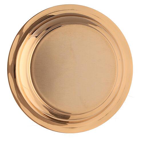 Cáliz y Patena latón dorado pámpanos vid 18 cm 7