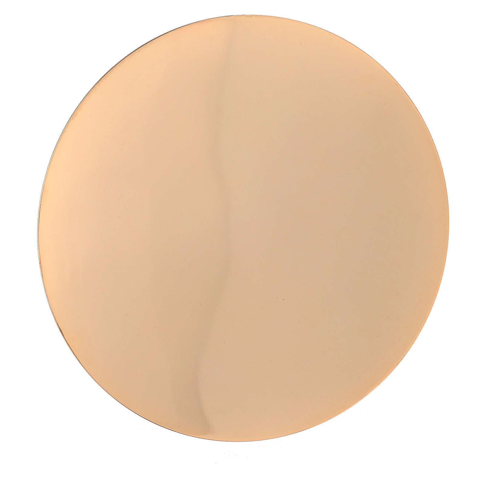 Calice e Patena ottone dorato base a campana 18 cm 4