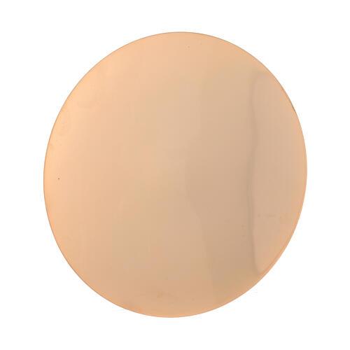 Cáliz y Patena vides aplicadas latón dorado 20 cm 4