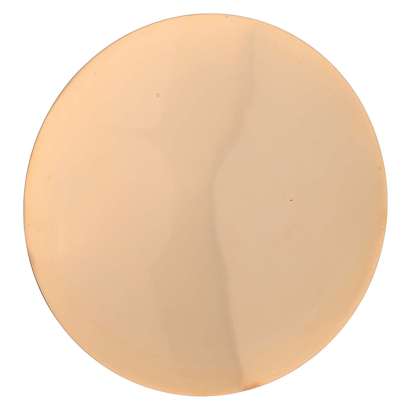 Set cáliz patena latón dorado lúcido torneado 22 cm 4