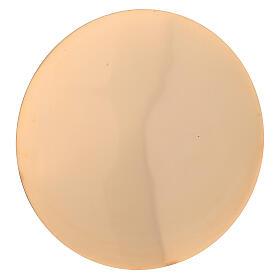 Set cáliz patena latón dorado lúcido torneado 22 cm s3