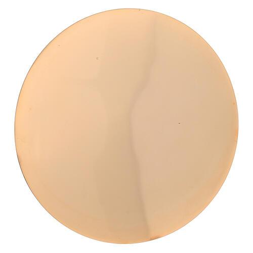 Set cáliz patena latón dorado lúcido torneado 22 cm 3