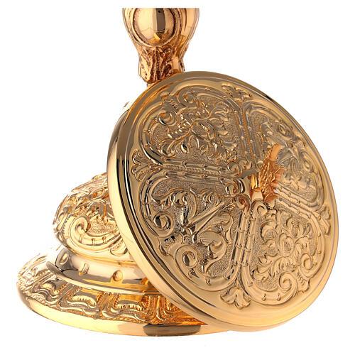 Baroque gold plated ciborium bread and fish handle 10 1/2 in 5