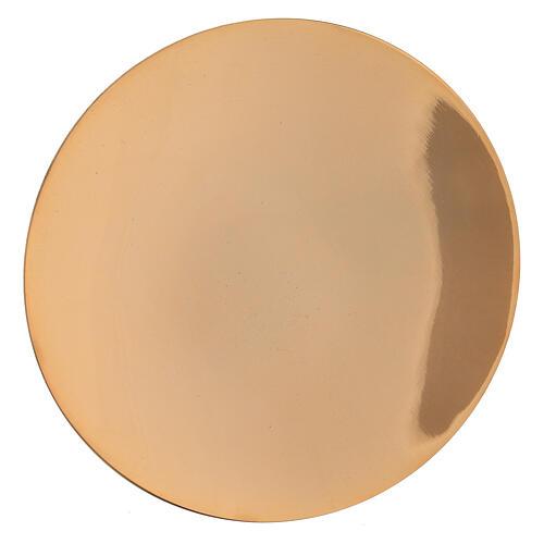 Cáliz pequeño con patena latón dorado 13 cm 3