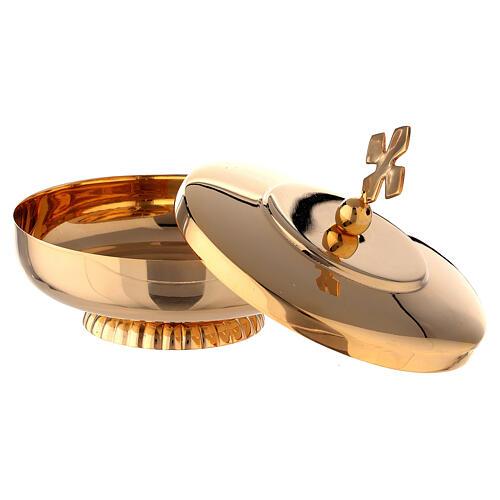 Open ciboria 3 3/4 in gold plated brass 2