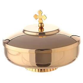 Open ciboria 6 in gold plated brass s1