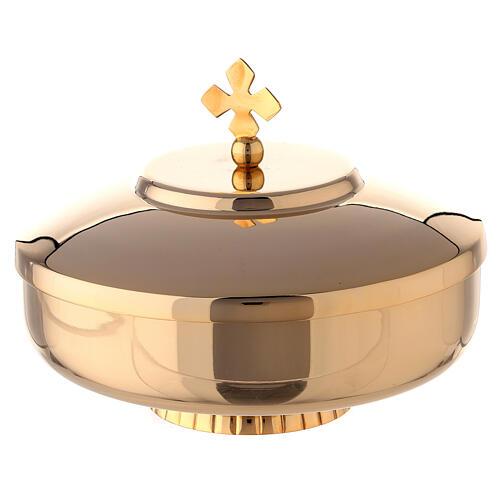 Open ciboria 6 in gold plated brass 1