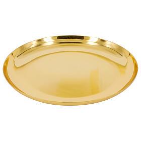Patène dorée brillante laiton s1