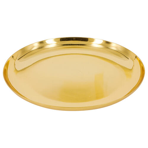 Patène dorée brillante laiton 1
