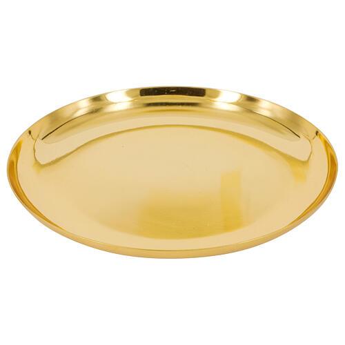 Patena fonda dorata lucida ottone 1