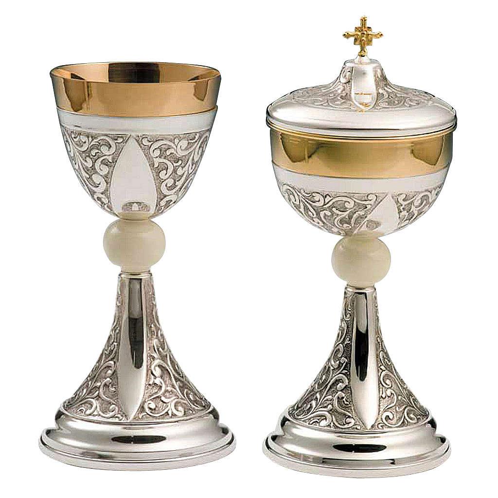 Cáliz y Píxide plata 800 marfil mod. Altare 4