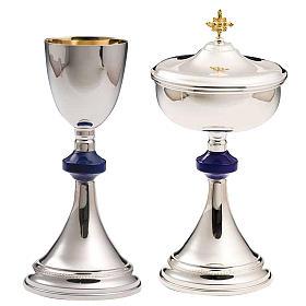 Calice et ciboire argent 800 lapis-lazulis mod. Flèche s1