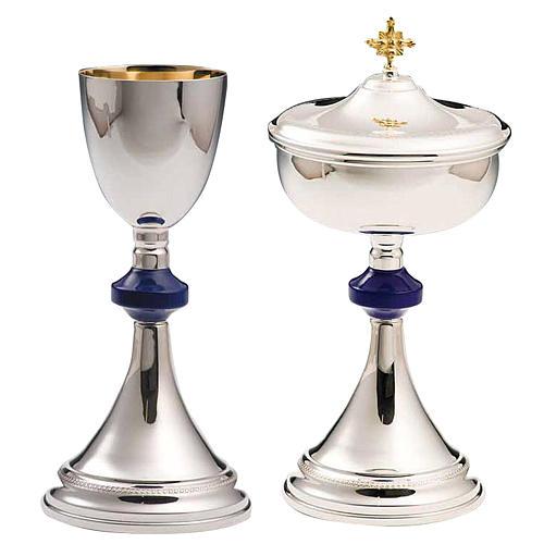 Calice et ciboire argent 800 lapis-lazulis mod. Flèche 1