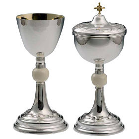 Calice e pisside argento 800 avorio mod. Delfino s1