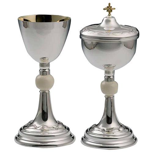 Calice e pisside argento 800 avorio mod. Delfino 1