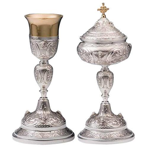 Calice e pisside argento 800 mod. Vergine 1