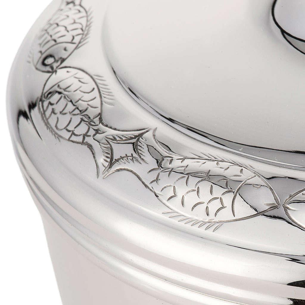 Calice e pisside argento 800 mod. Pesci 4