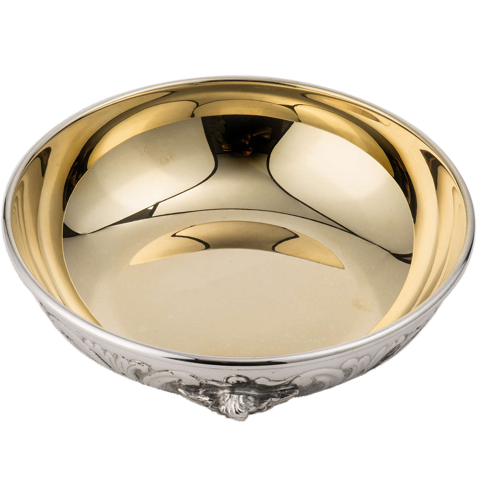 Bowl Paten in silver 800 with angel decoration 4